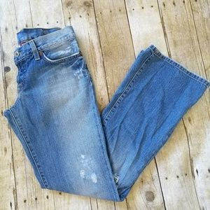 Lucky Brand Flare Destroyed Sweet Dream Sz 4 or 27